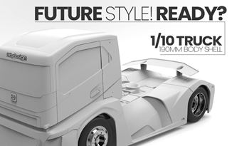 Picture of All new 1/10 190mm Truck body shell